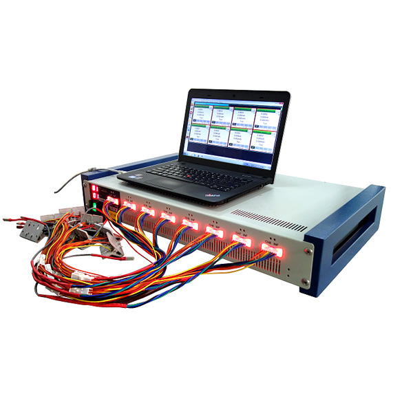 8 Channel Battery Analyzer (0.6 -300 mA, upto 5V w/ Temperature & DCR Measurement - BST8-300-CST