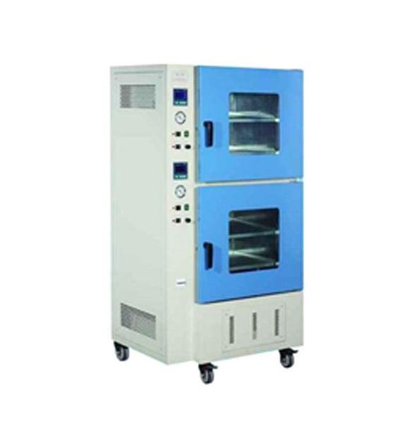 200C Vacuum Oven w/ Vacuum Pump and Two Heating Chambers 18x18x18