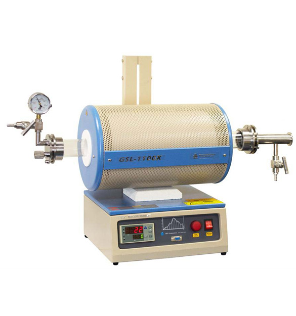 1100°C Tube Furnace w/ Vacuum Flange (Optional 1-2