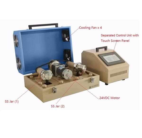 Dual Jar Hi-Energy Rotary & Shaker Ball Mill w/ Remote Controller (Ar Gas Compatible) - MSK-SFM-3-II