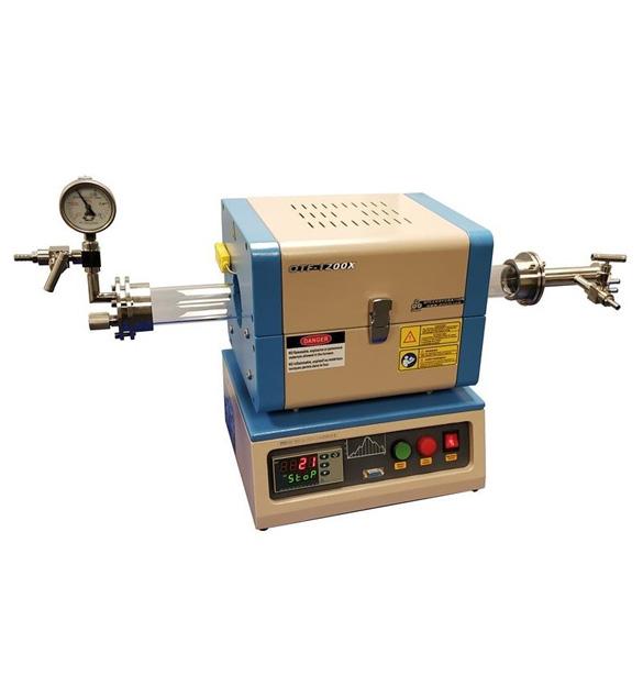 1200C Compact Split Tube Furnace w/ Vacuum Flanges & Optional 1